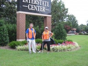 Two Dunlap workers onsite at Interstate Center