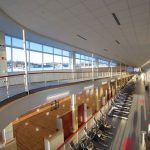 Radford University Fitness Center interior pic from second floor